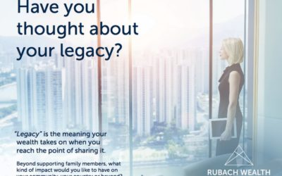 Have you thought about your legacy?