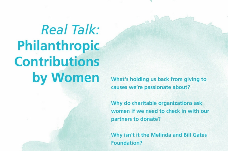 Women embracing philanthropy with financial planning