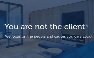 You are not the client*: How we help you help others